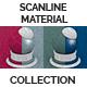 Scanline Procedural Tiles 1x1 Offset  Color Noise