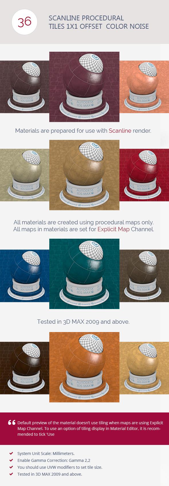 3DOcean Scanline Procedural Tiles 1x1 Offset Color Noise 6744289