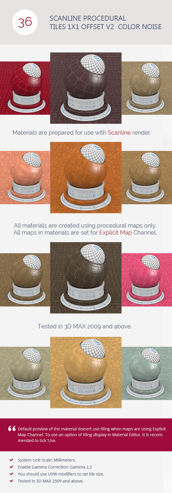 3DOcean Scanline Procedural Tiles 1x1 Offset V2 Color Noi 6744325