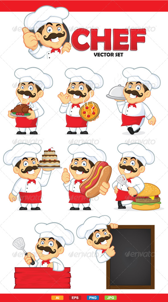 GraphicRiver Chef Vector Set 6744472