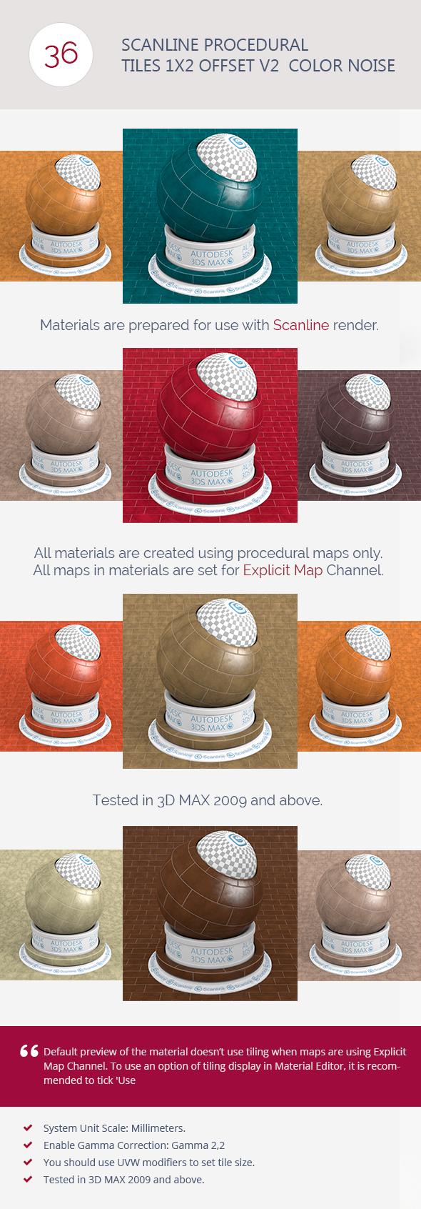 3DOcean Scanline Proc Tiles 1x2 Offset V2 Color Noi 6744497