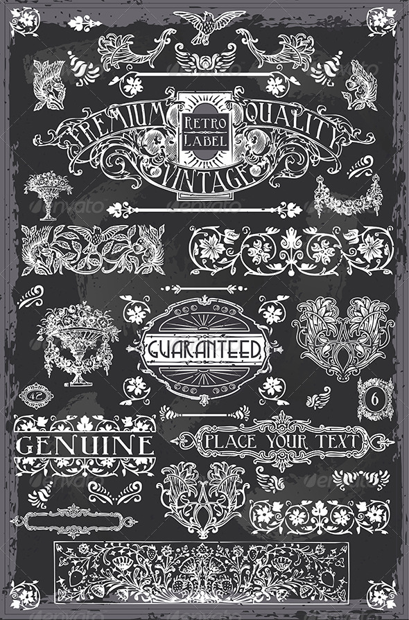 GraphicRiver Vintage Hand Drawn Graphic Blackboard Banners 6744539