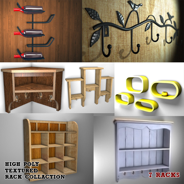 wood rack pack - 3DOcean Item for Sale