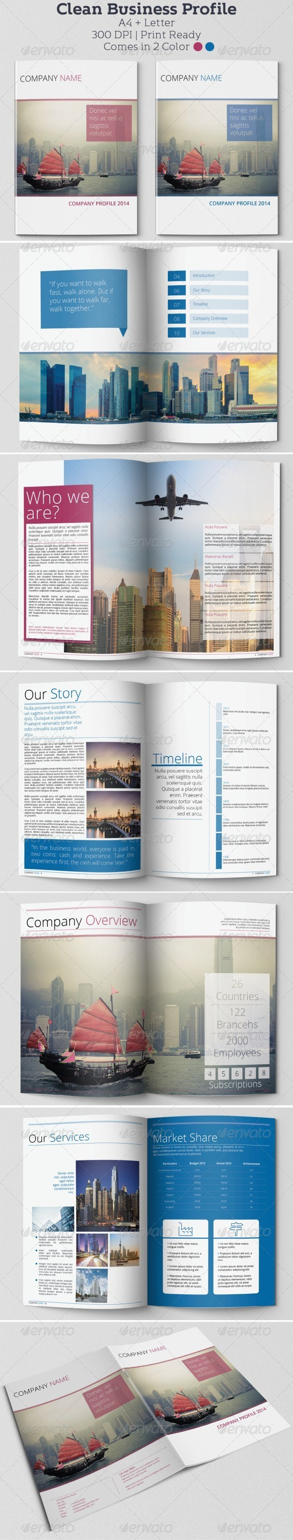 GraphicRiver Clean Business Profile 6744656
