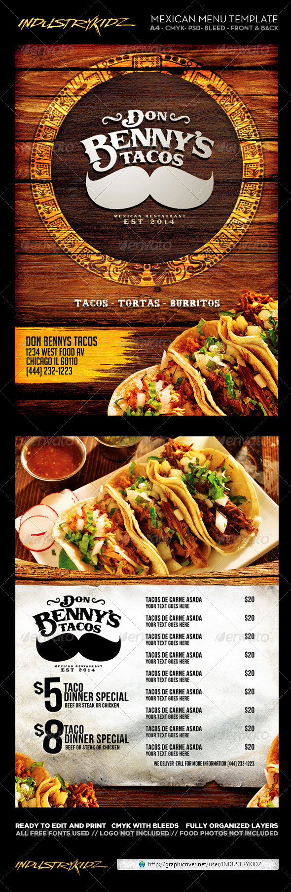 GraphicRiver Mexican Menu Template 6744708