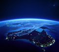 Australia with city lights from space at night - PhotoDune Item for Sale