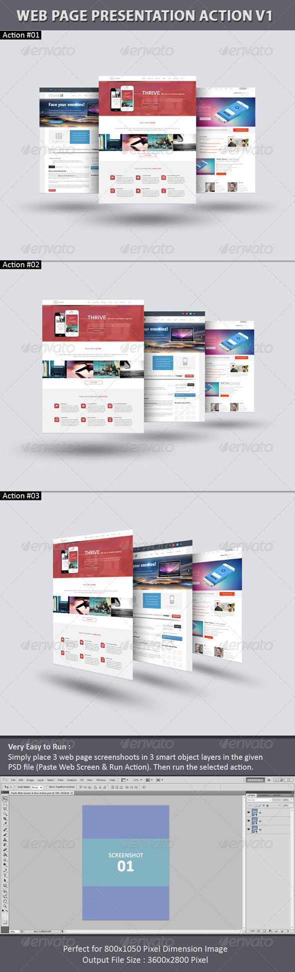GraphicRiver Web Page Presentation Action V1 6745283