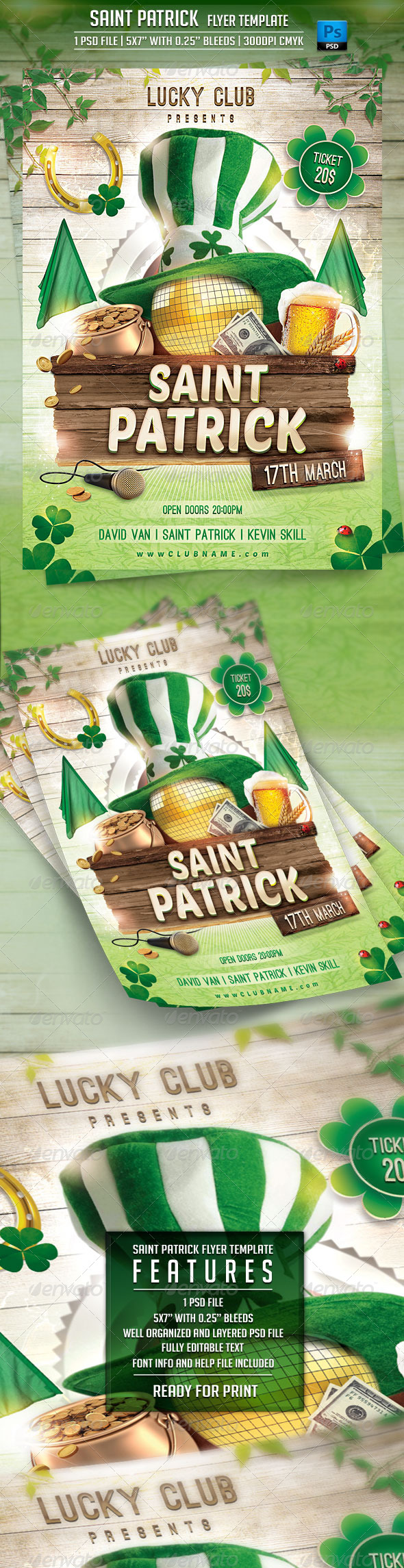 GraphicRiver Saint Patrick Flyer Template 6745397