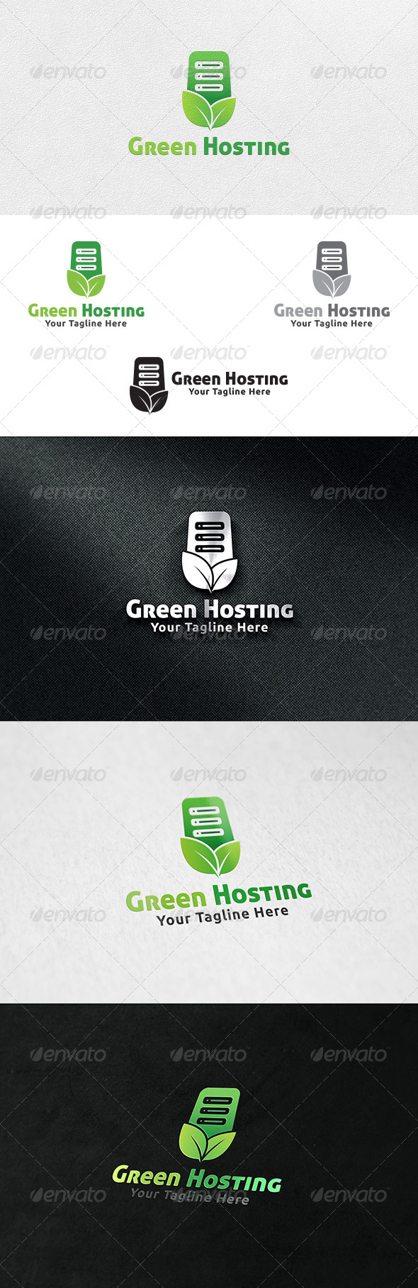GraphicRiver Green Hosting Server Logo Template 6745519