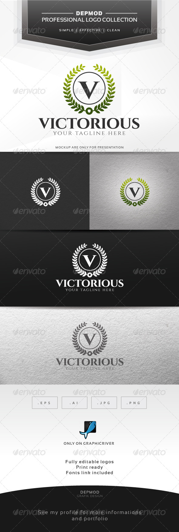 GraphicRiver Victorious Logo 6745709