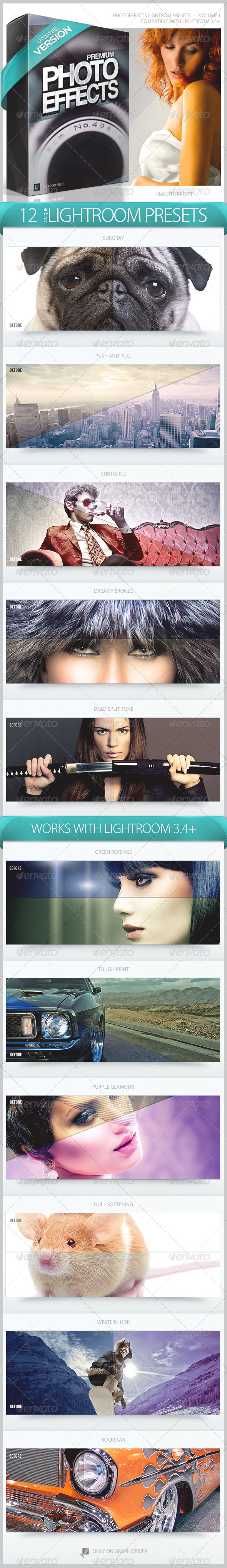 PhotoEffects Lightroom Presets Volume 1 - Lightroom Presets Add-ons