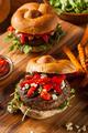 Healthy Vegetarian Portobello Mushroom Burger