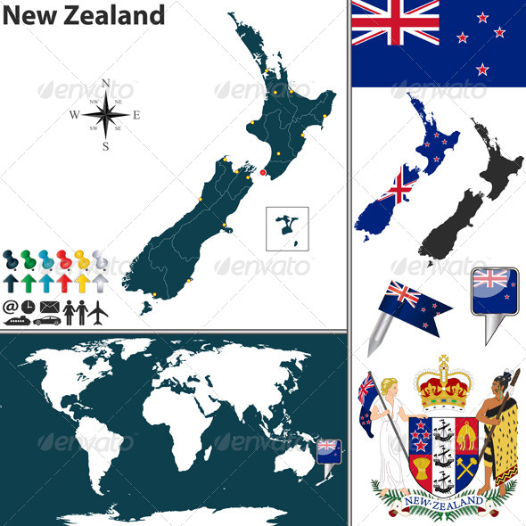 GraphicRiver Map of New Zealand 6746515