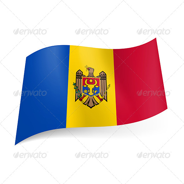 GraphicRiver State Flag of Moldova 6746592