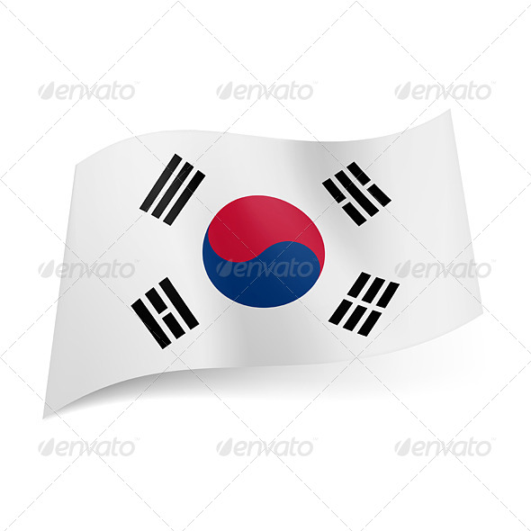 GraphicRiver State Flag of South Korea 6746596