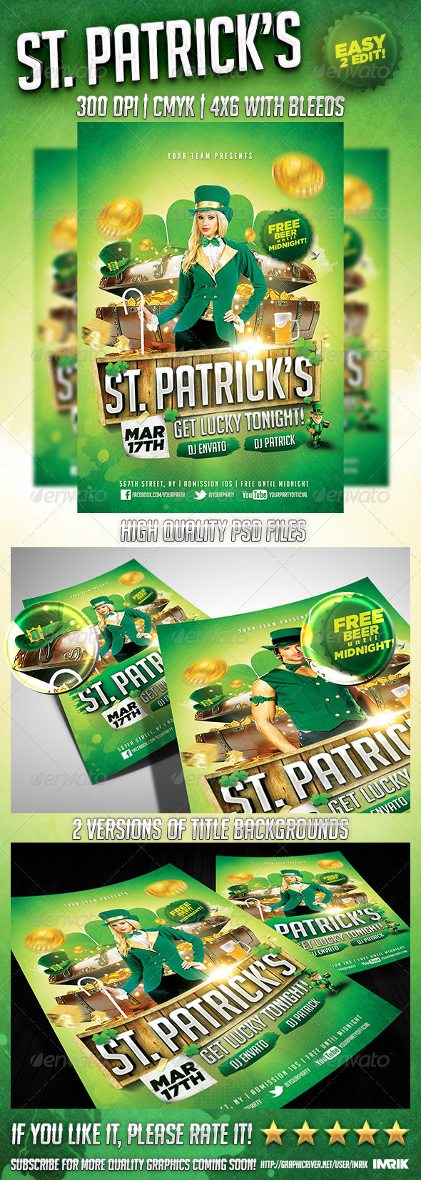 GraphicRiver Saint Patrick s Night Flyer 6746615