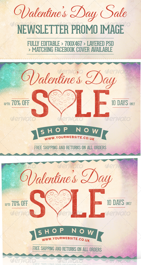 Valentine's Day Sale  Newsletter Promo Image