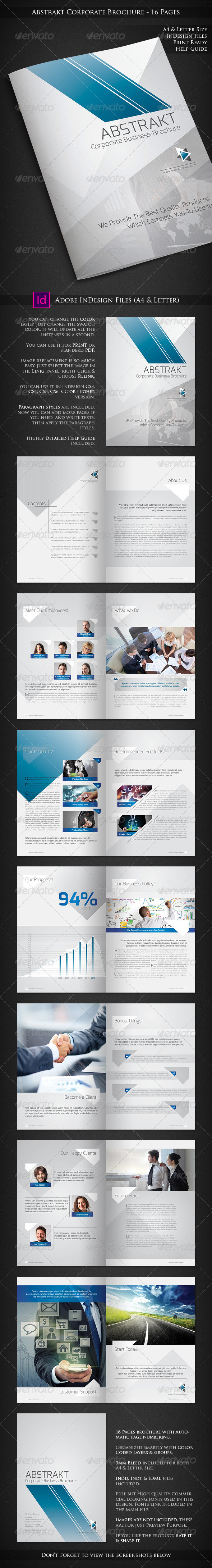 GraphicRiver Abstrakt Corporate Brochure Design 16 Pages 6746830