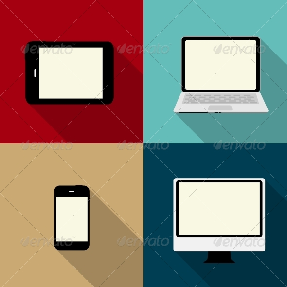 GraphicRiver Computing Concept on Different Electronic Devices 6747032