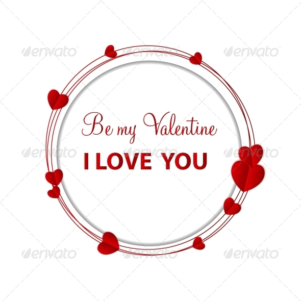 GraphicRiver Happy Valentines Day Card with Heart Vector Illustration 6747065