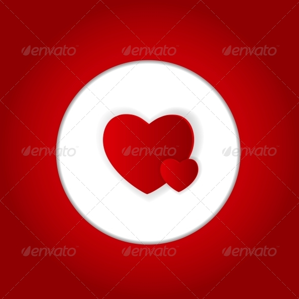 GraphicRiver Happy Valentines Day Card with Heart Vector Illustration 6747067