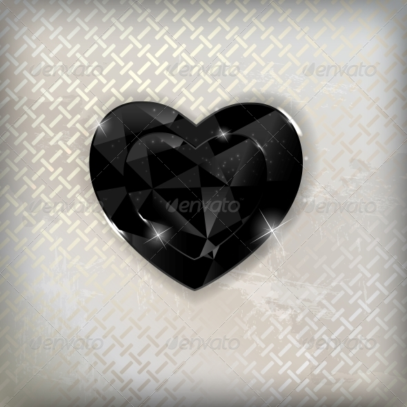 GraphicRiver Happy Valentines Day Card with Heart Vector Illustration 6747091