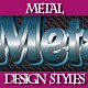 Set of Various Metal Text Graphic Styles.