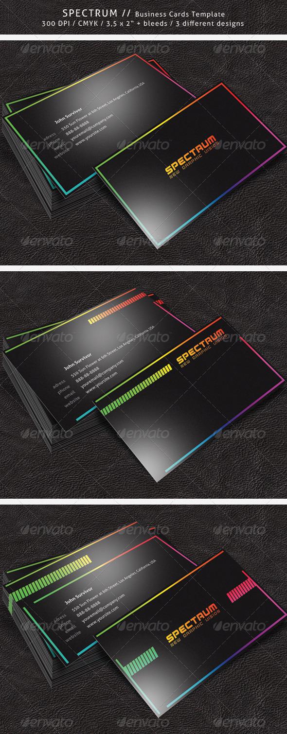 Spectrum Business Card - Corporate Business Cards