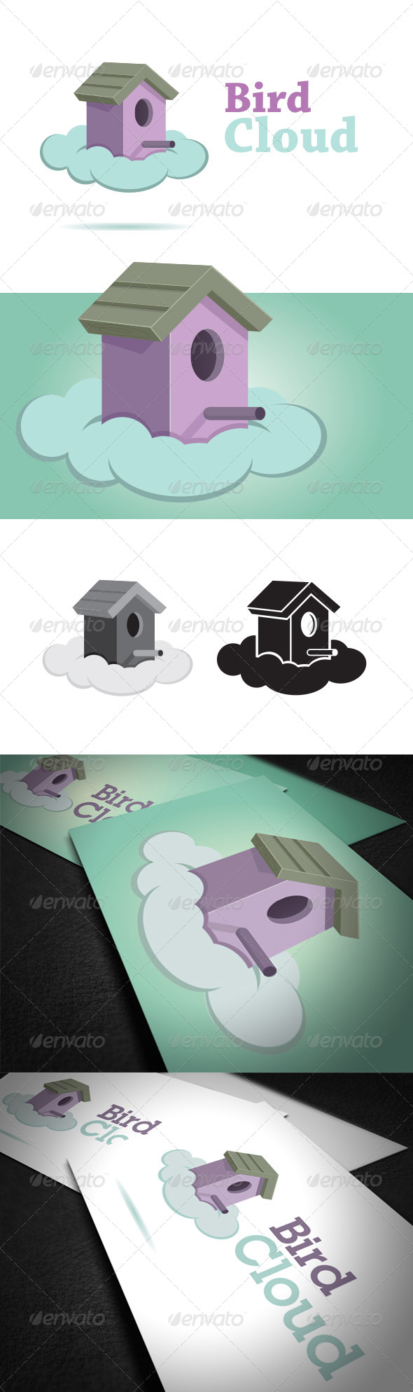 GraphicRiver Bird Cloud Logo Template 6587062