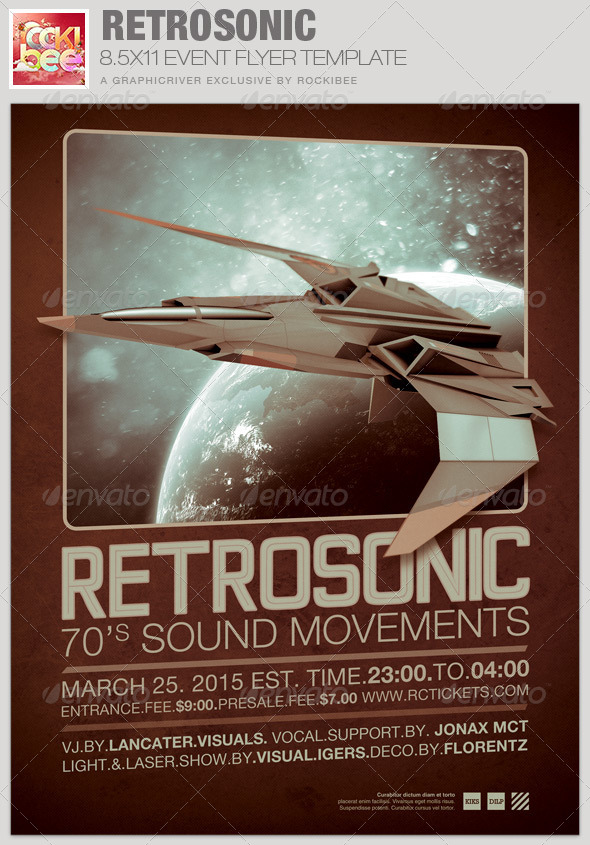 GraphicRiver RestroSonic Event Flyer Template 6747200