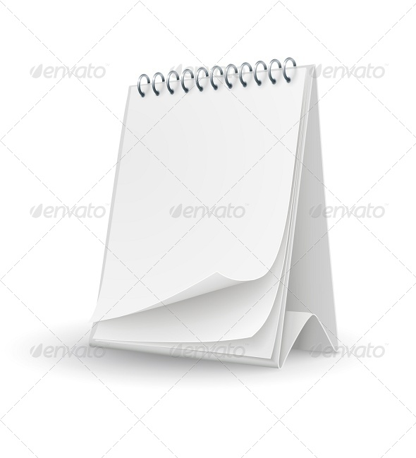 Calendar Template with Blank Pages