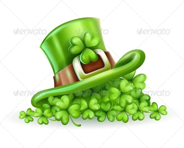 GraphicRiver Cap of Saint Patrick in the Clover 6747423