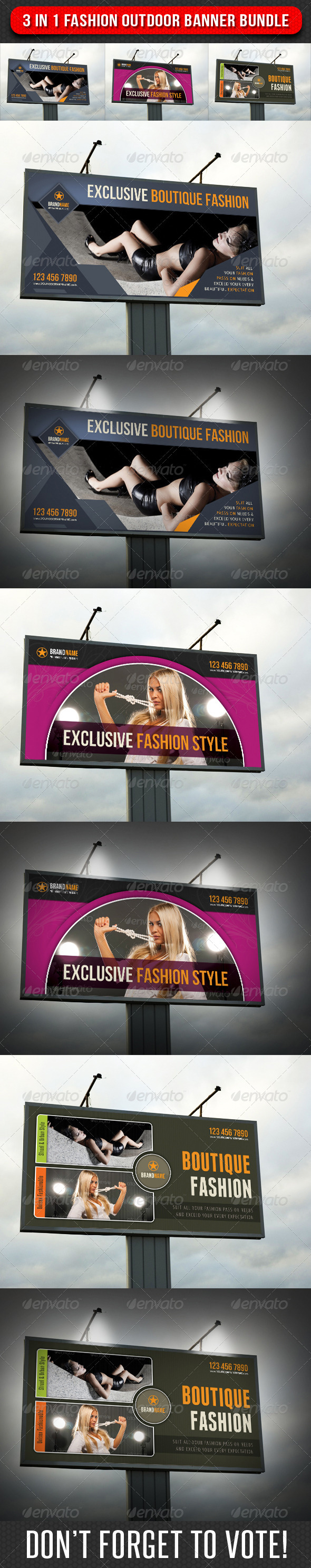 GraphicRiver 3 in 1 Fashion Outdoor Banner Bundle 01 6747673