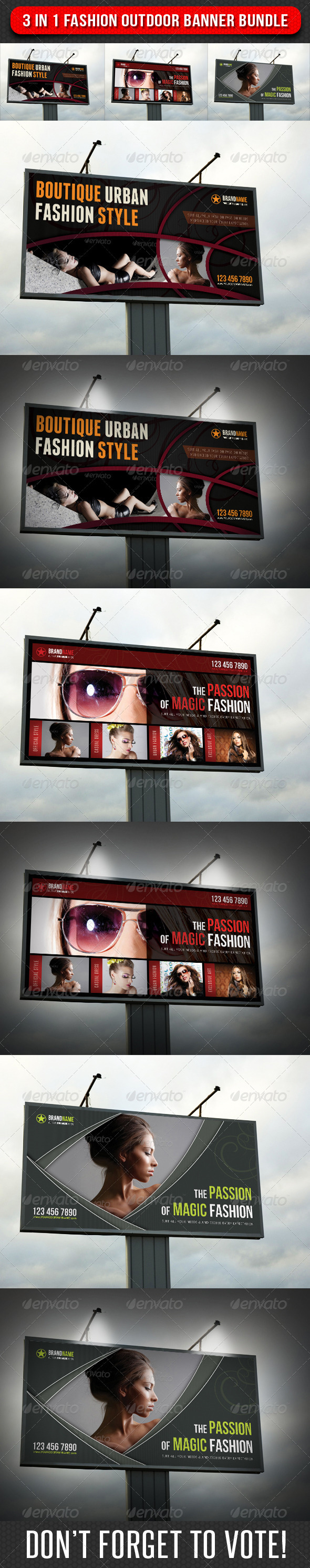 GraphicRiver 3 in 1 Fashion Outdoor Banner Bundle 02 6747756