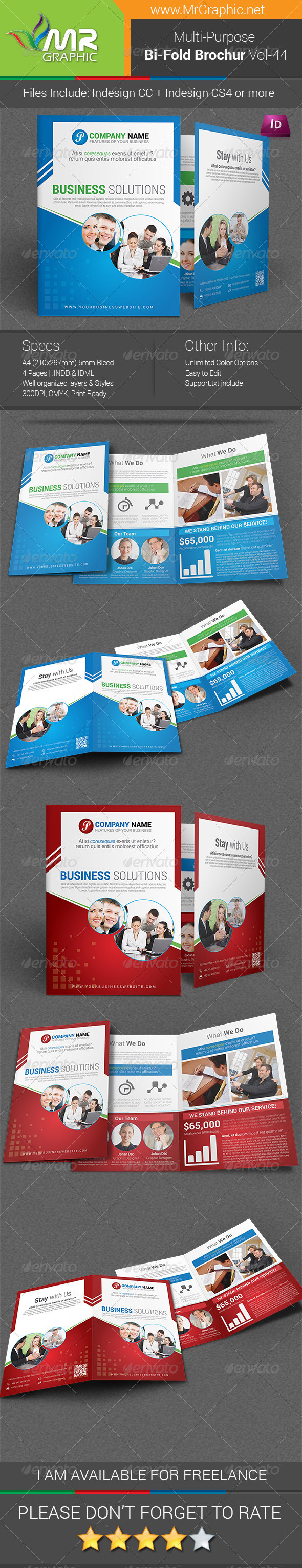 GraphicRiver Multipurpose Bi-fold Brochure Template Vol-44 6747768