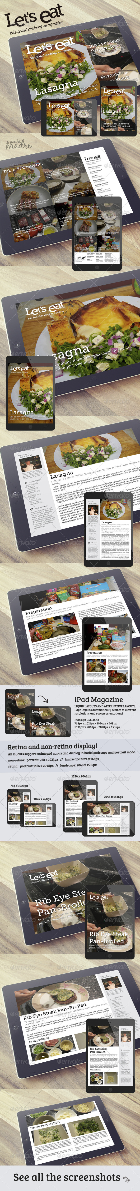 GraphicRiver Cooking iPad Magazine That Looks Like a Blog 6747841