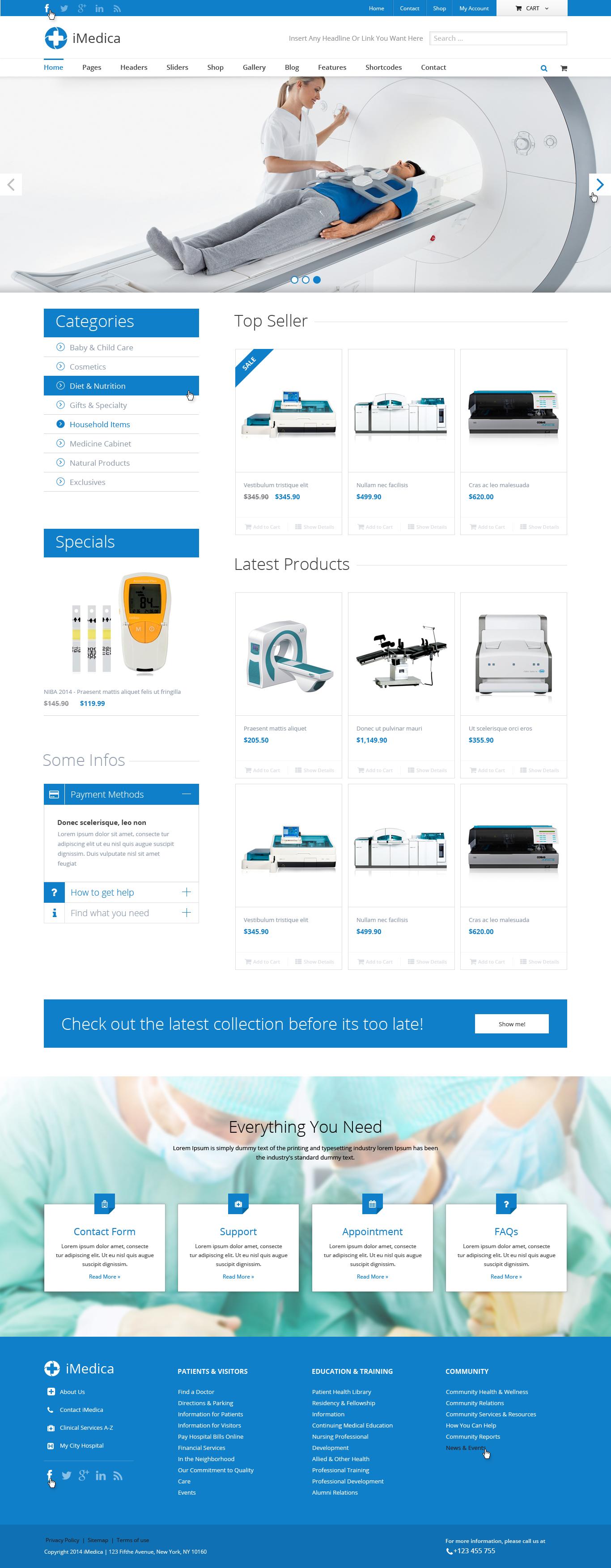 iMedica - Flat, Responsive Medical & Health Theme