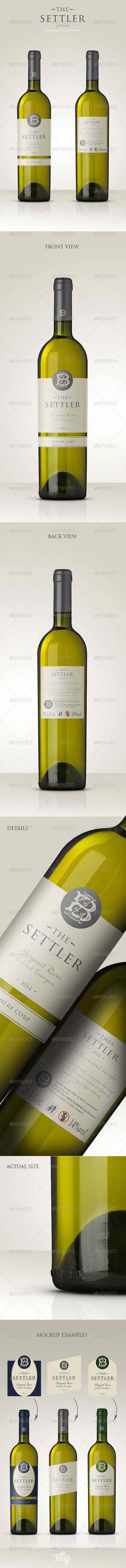 GraphicRiver Premium White Wine Mockup 6747948