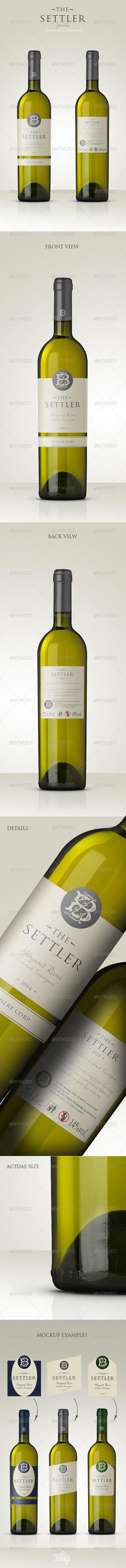 Premium White Wine Mockup