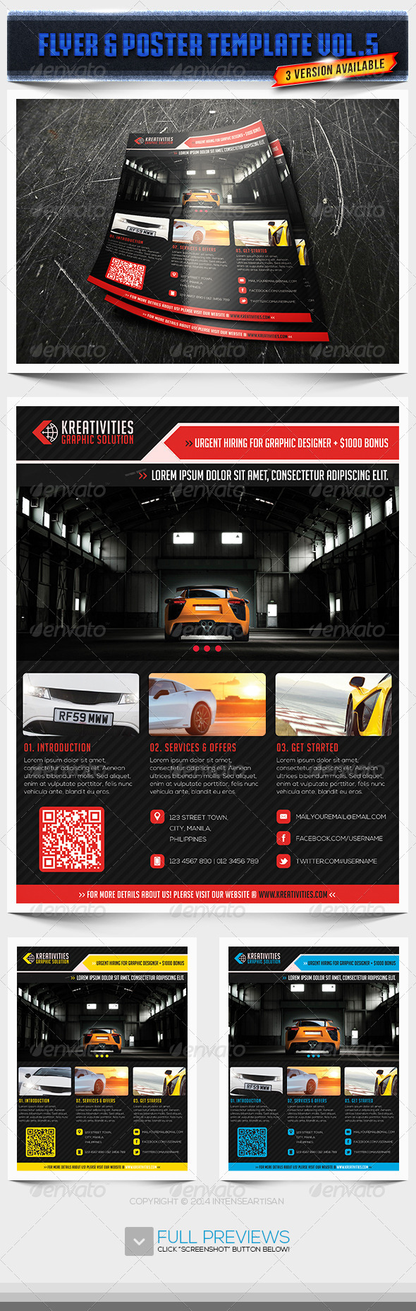 GraphicRiver Corporate Creative Flyer Vol.5 6740096