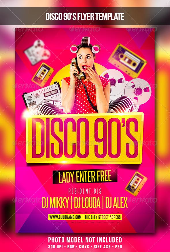 GraphicRiver Disco 90s Flyer 6748194