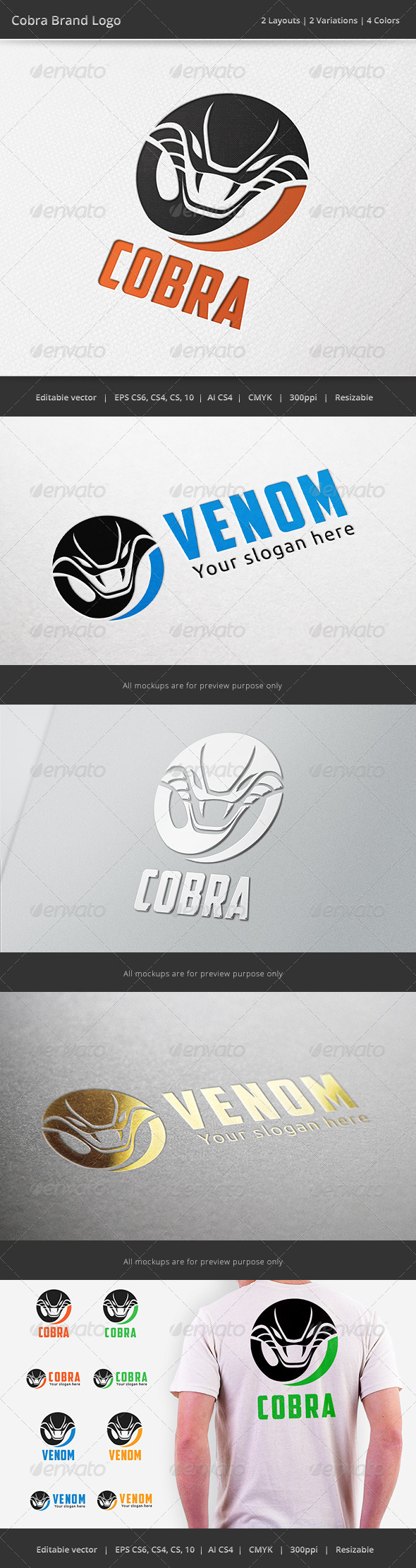 GraphicRiver Cobra Snake Logo 6748714