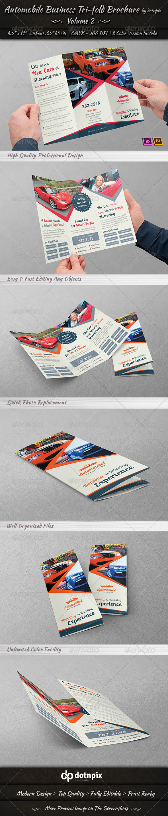 Automobile Business Tri-Fold Brochure Volume 2
