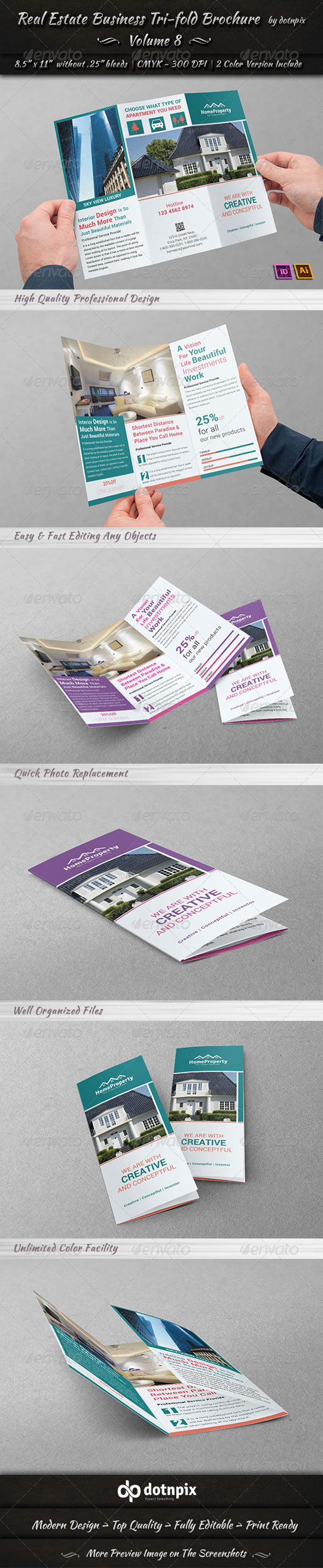 GraphicRiver Real Estate Business TriFold Brochure Volume 8 6748947