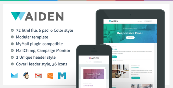 Aiden - Responsive Email Template - Newsletters Email Templates