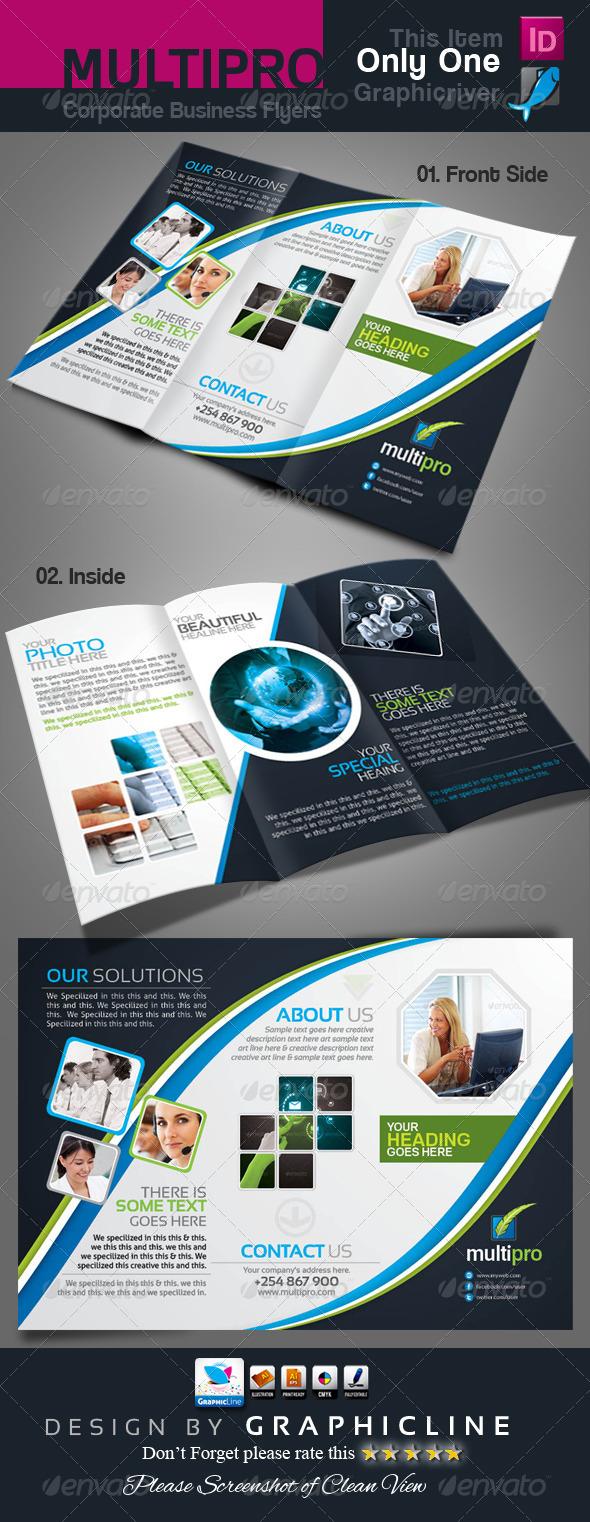 GraphicRiver Multi Pro Corporate Tri-Fold Business Brochure 6749589