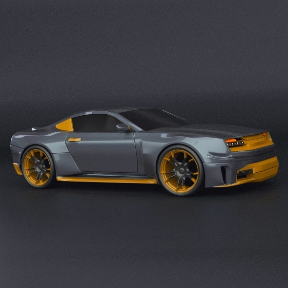Stylish muscle car concept - 3DOcean Item for Sale