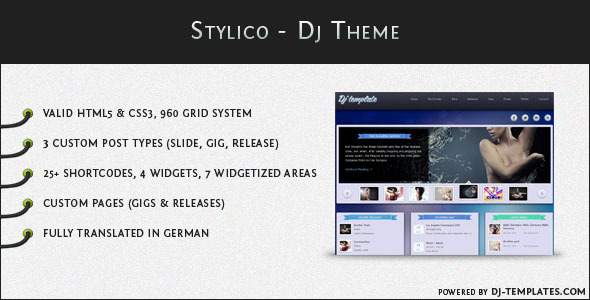Stylico - Wordpress Dj Theme