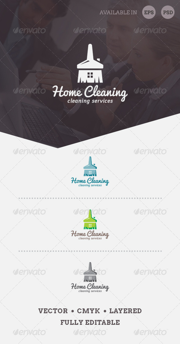 GraphicRiver Home Cleaning Logo Template 6749784