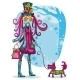 Girl With Schnauzer. Winter - GraphicRiver Item for Sale
